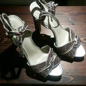 Nine West glittered  sandals